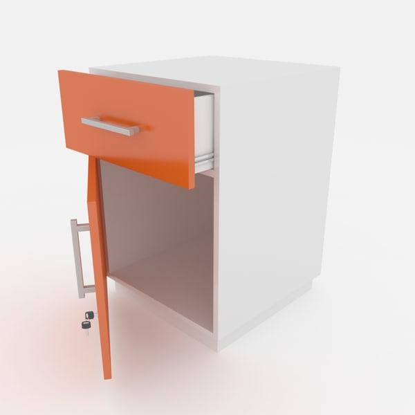 3d cabinet lockable office model