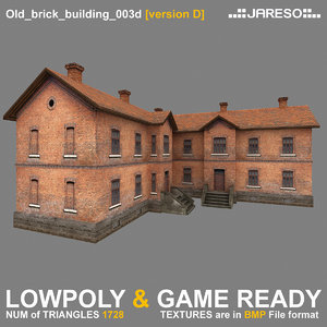 two-floor old brick building games 3d 3ds