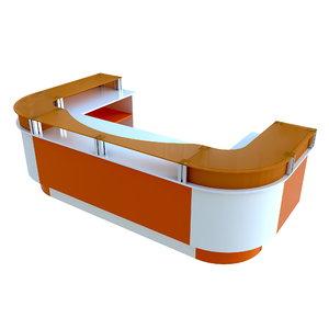 modern reception desk 3ds