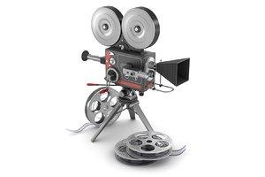 vintage movie camera film 3d max