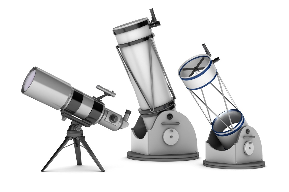 3d model of telescopes : refractor reflector