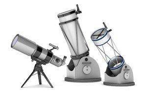 3d model of telescopes : refractor reflector