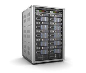 modern server storage database 3d model
