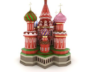cathedral moscow russian famous 3d model