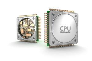 central computer processors cpu 3d max