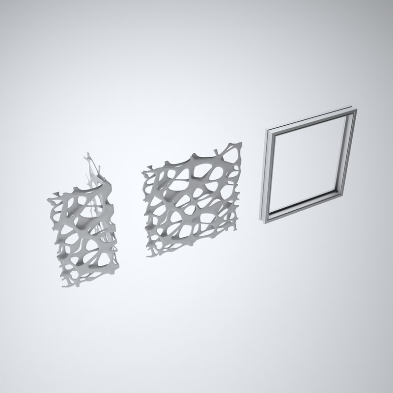 aluminium spider screen 3d max