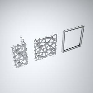 aluminium spider screen 3d max