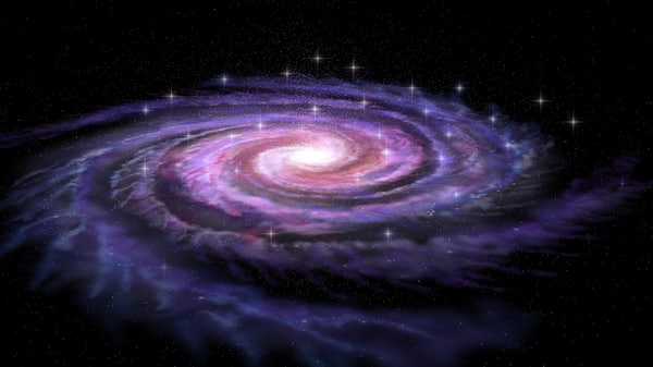 3d spiral galaxy