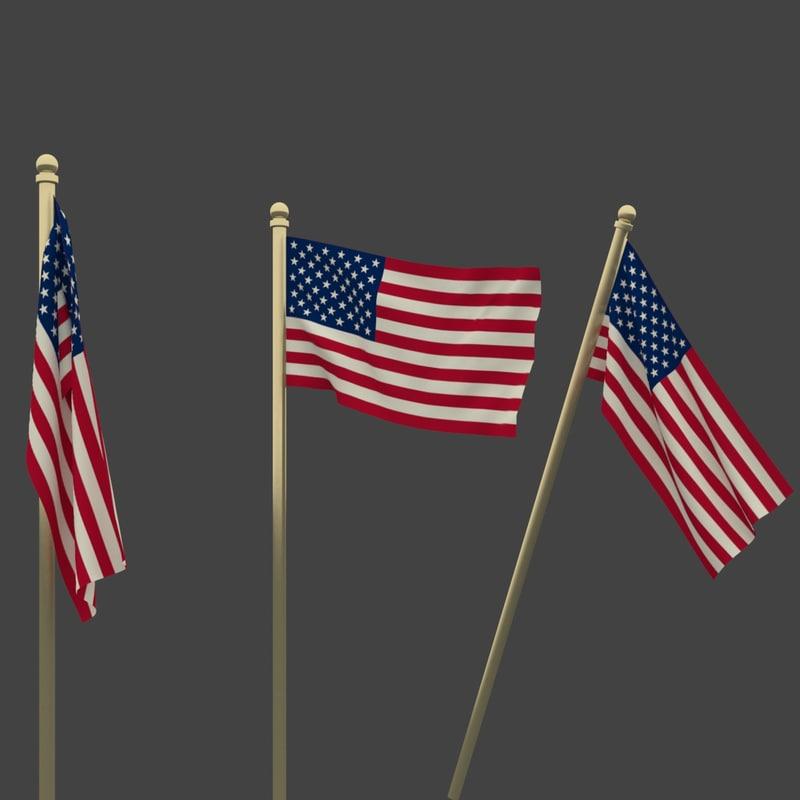 national flag usa 3ds