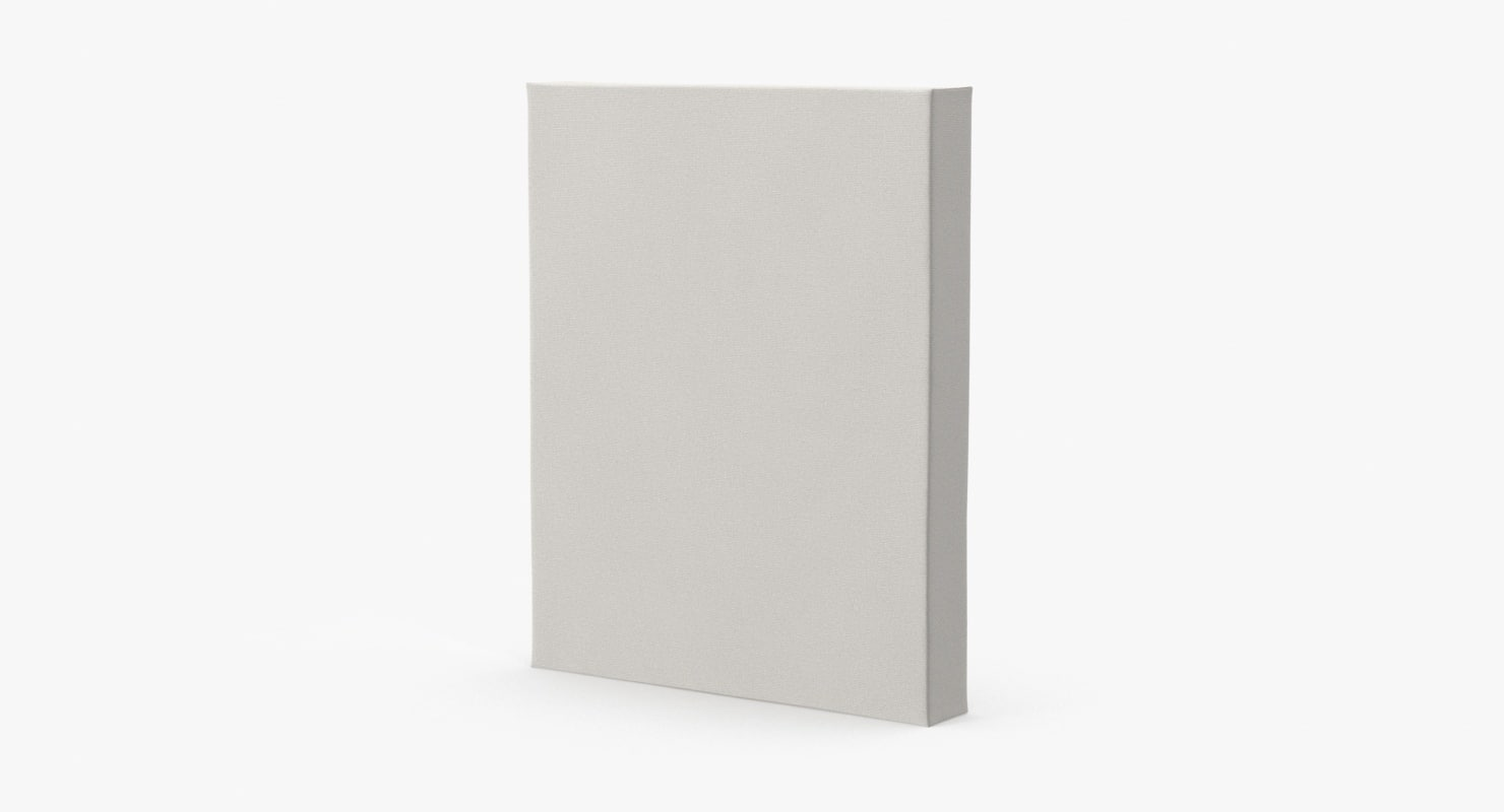 blank canvases 8x10 3d model