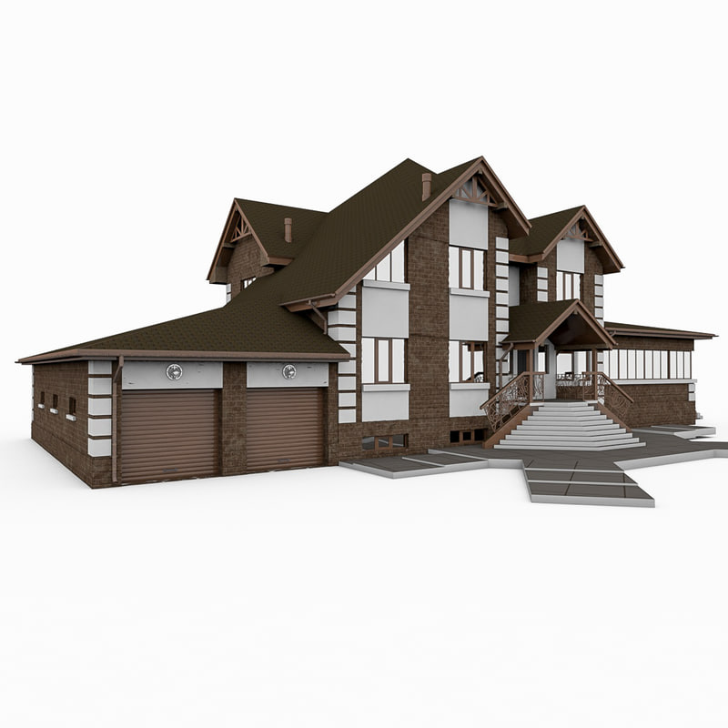 big stone house 3d model
