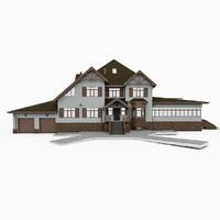3d model of house alpine