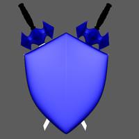 3d shield sword