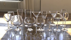 3d bar glass model