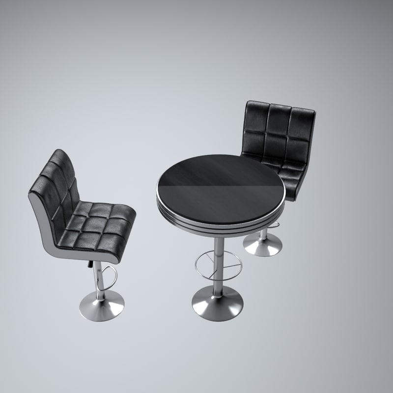3d set bar furniture