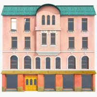 3d model vintage house