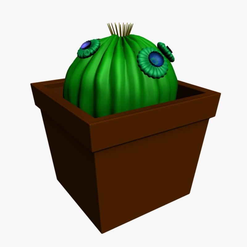 3d cactus plant model