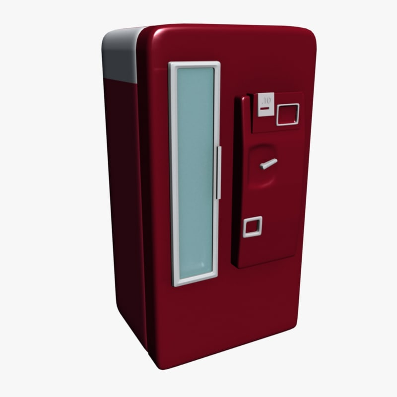 soda vending machine 3d max