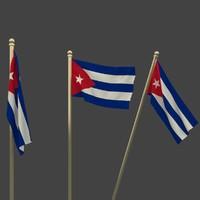 flag cuba 3d model