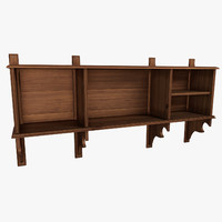 shelf 19th 3d model