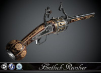 Flintlock Revolver - model and textures