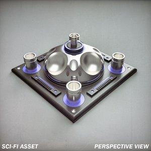 sci-fi asset - 3d obj