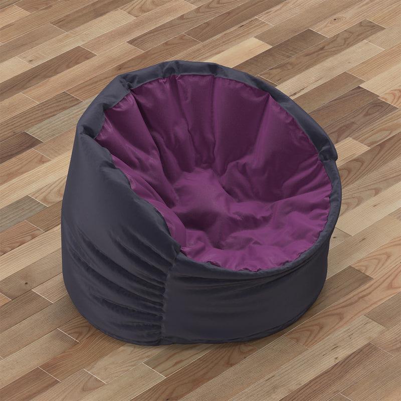 3d pouf bowly model