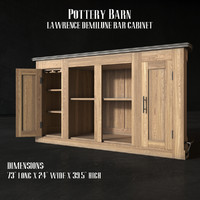 Pottery Barn - LAWRENCE DEMILUNE BAR CABINET