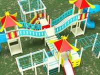 3d model playground slide mesh