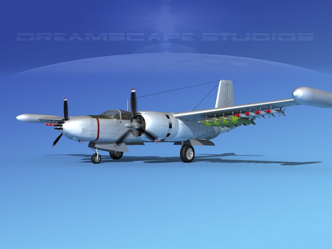 3ds douglas a-26k a-26 bomber