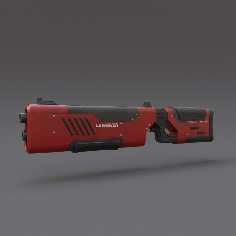 3ds scifi rifle