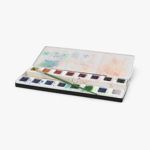 watercolors water color 3d max
