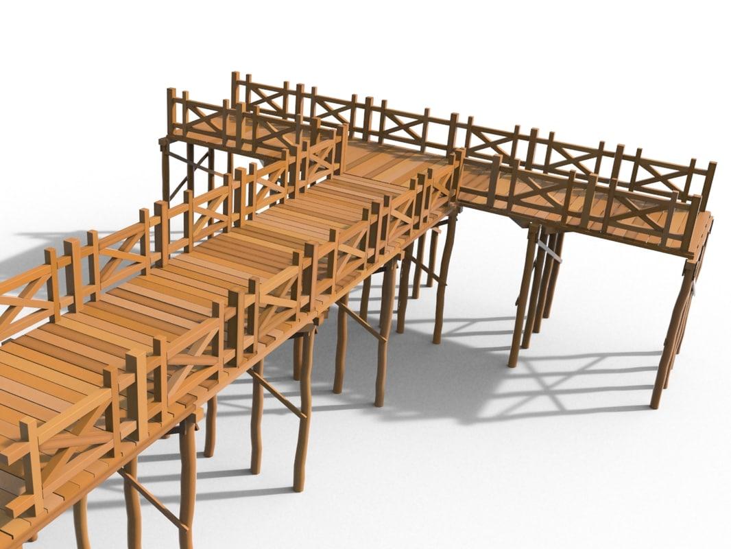 wooden pier 3ds