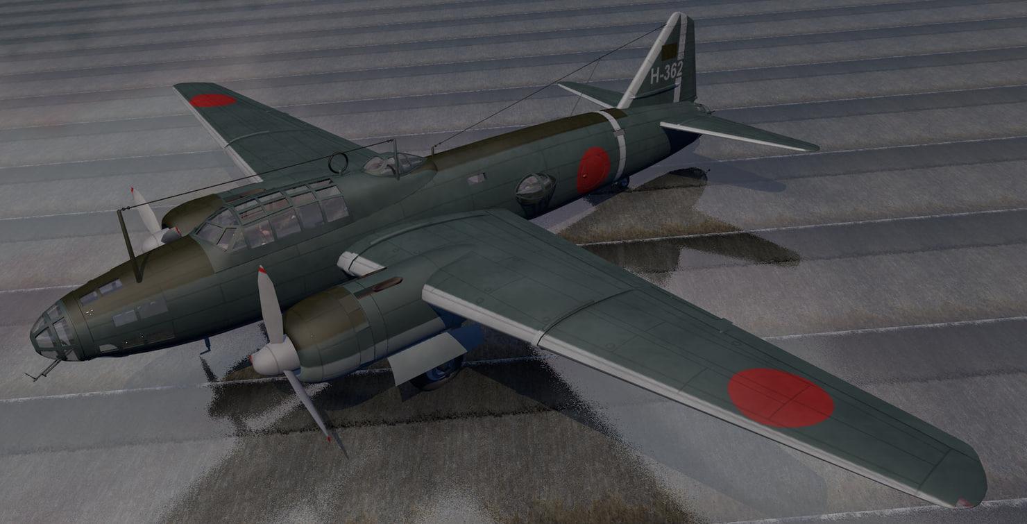 3d plane mitsubishi g4m1 betty