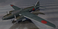 3d plane mitsubishi g4m1 betty
