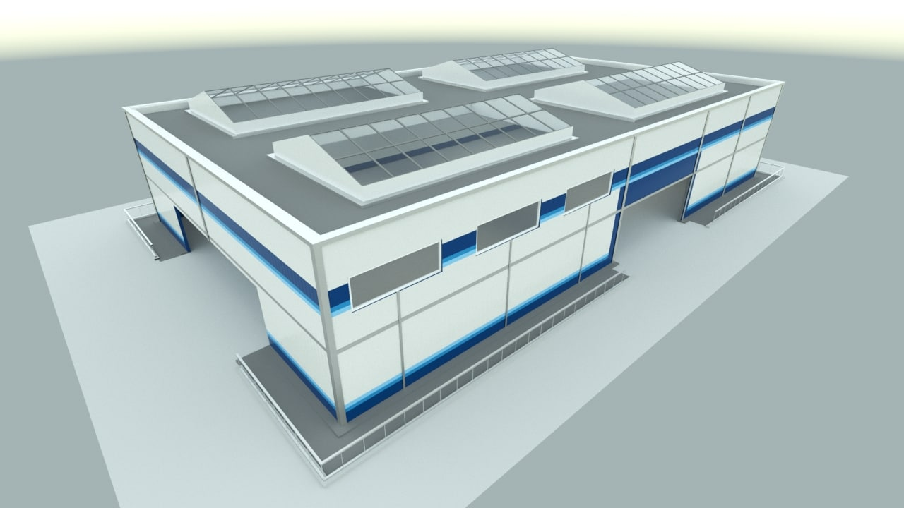 3d industrial hangar model
