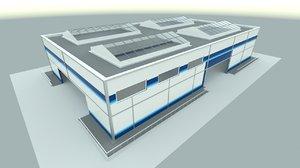 3d industrial hangar model