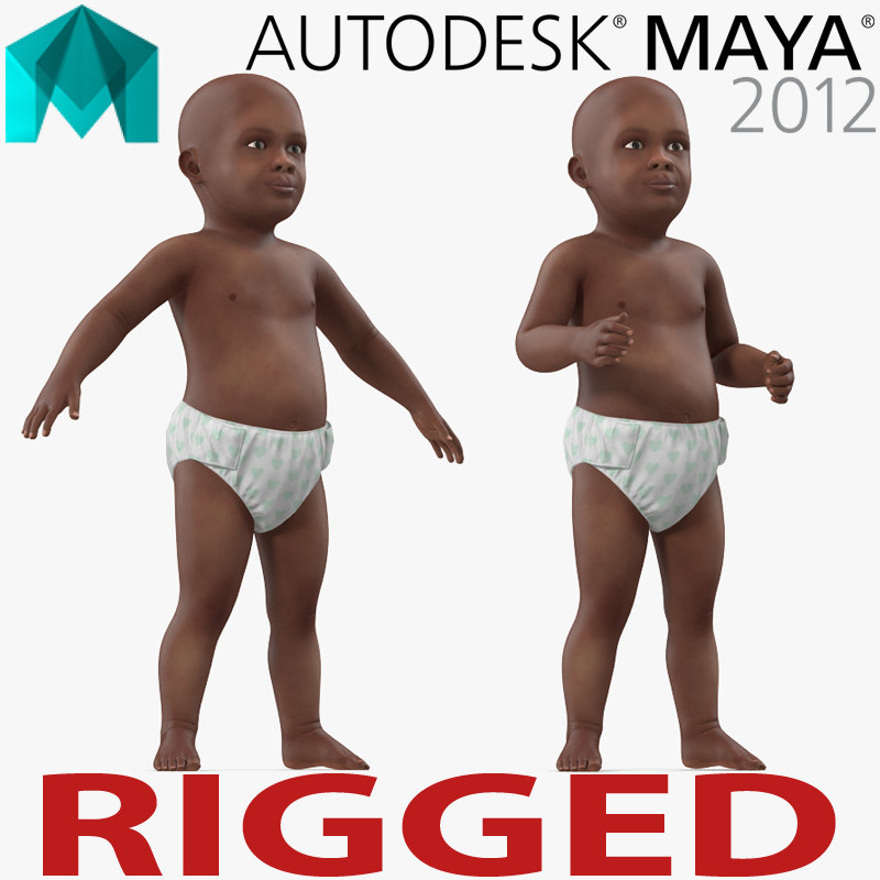 african american baby rigged ma