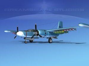 douglas a-26k a-26 bomber 3d max