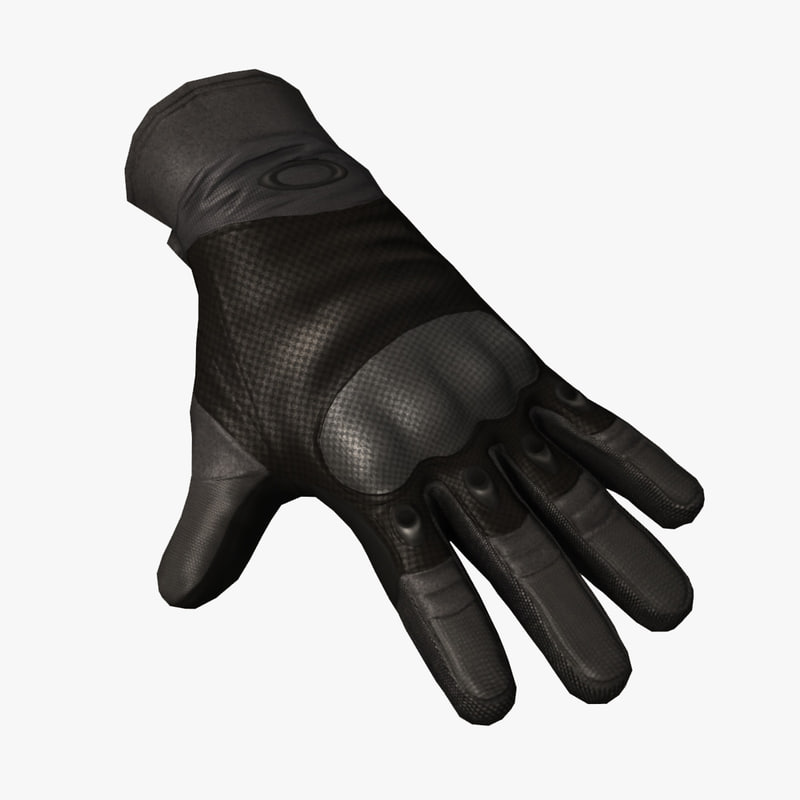 3d si assault glove black model