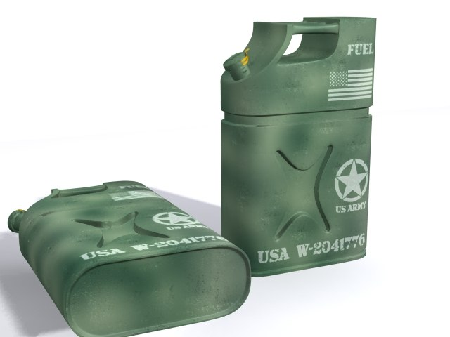 military jerrycan 3d model