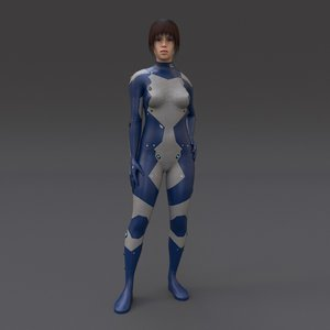 3d model scifi rigged t