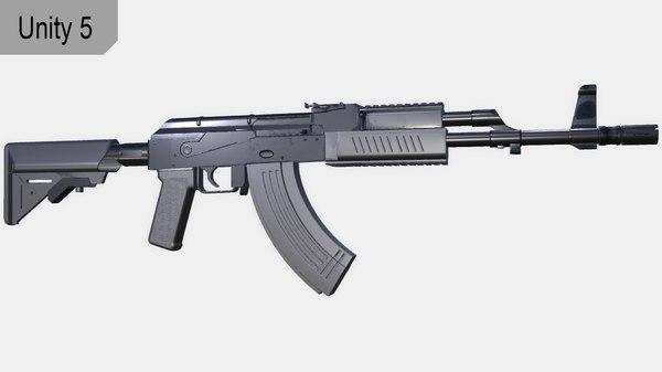 3d ready ak47 model