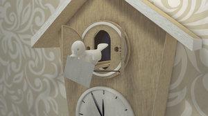 c4d wall clock
