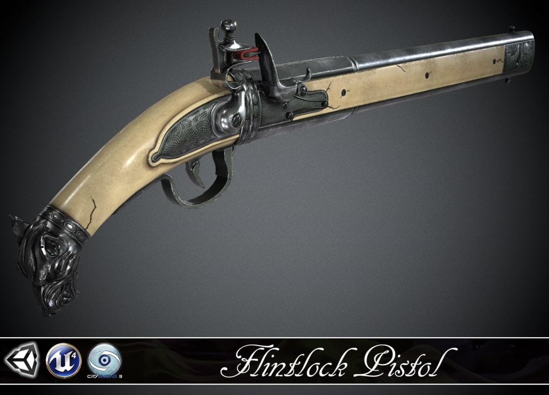 pistol flintlock wolf max