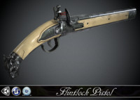 SILVER WOLF - Flintlock Pistol