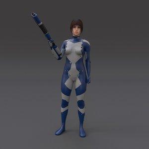 3d scifi t model