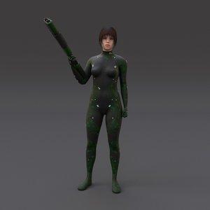 scifi t 3d model