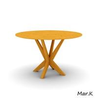 3d dinner table model