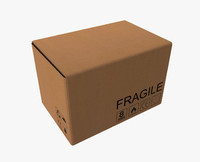 large cardboard box 3d model